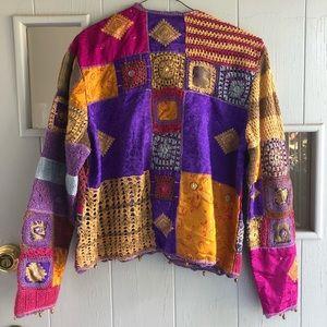 Vintage Deadstock Sandy Starkman Patchwork Sweater